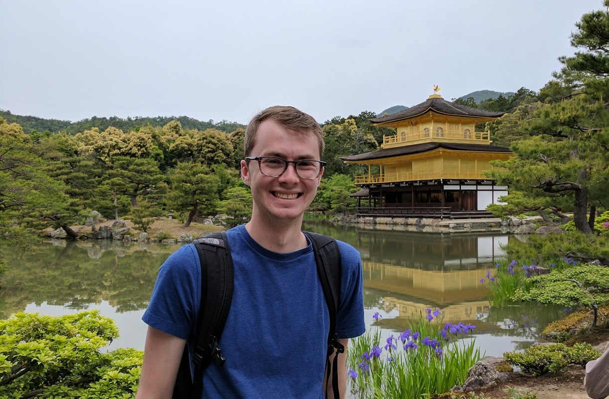 Kinkaku-ji's golden pavilion in Kyoto, Japan