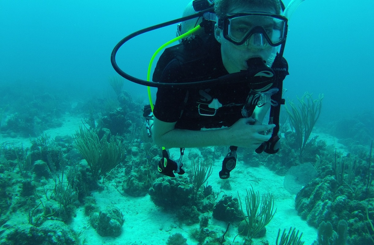 Scuba diving somewhere in Grand Cayman!